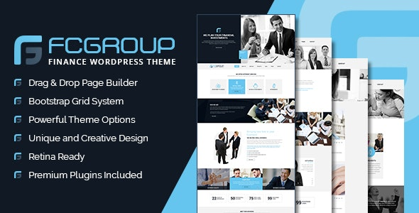 Finance Group - Corporate WordPress Theme - Corporate WordPress