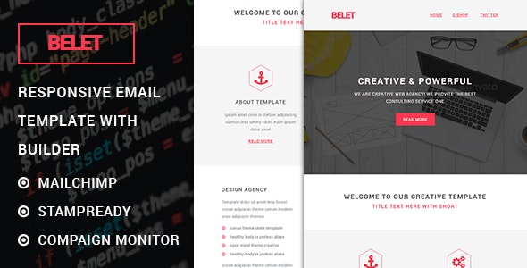 Belet - Responsive Email Template with Stampready Builder - Miscellaneous Email Templates