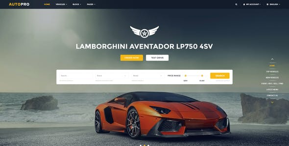 Autopro - Modern PSD Template for Car and Auto Dealers