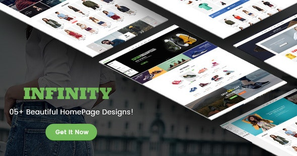 Infinity - Fashion/Sport eCommerce PSD Template - Shopping Retail