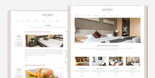 Royal - Hotel and Resort WordPress Theme - Travel Retail