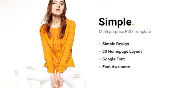 Simple - PSD Template - Fashion Retail