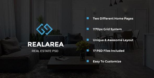 RealArea - Real Estate PSD Template - Corporate Photoshop