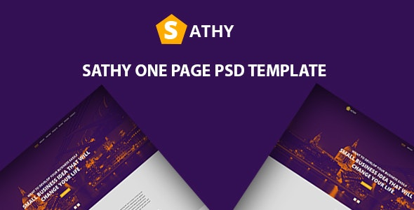 Sathy One Page PSD Template - Creative Photoshop