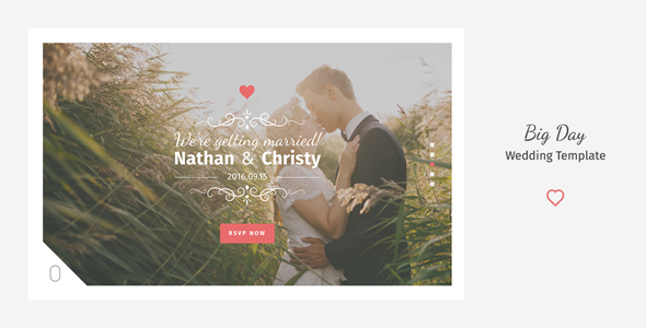 Big Day - A Modern Onepage Wedding Template - Wedding Site Templates