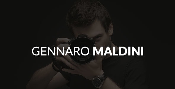 Gennaro Maldini Photography HTML Template - Photography Creative