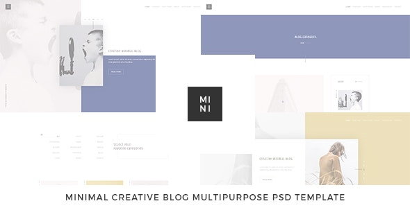 Mini - Creative Blog Multipurpose PSD Template - Creative Photoshop
