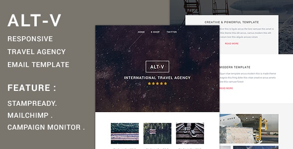 ALT-V Responsive Email Template - Catalogs Email Templates