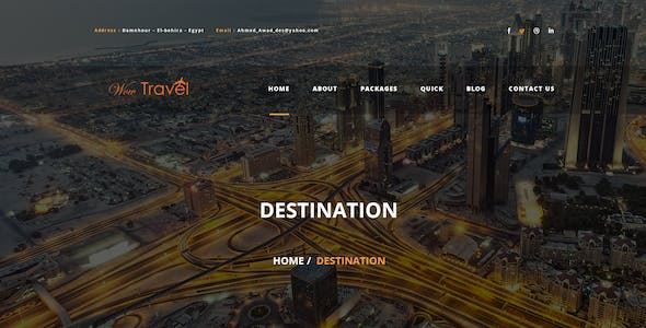 Wow-Travel PSD Template