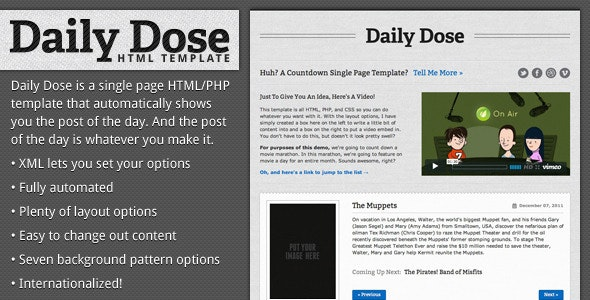 Daily Dose - Automatic Changing HTML Template - Miscellaneous Specialty Pages
