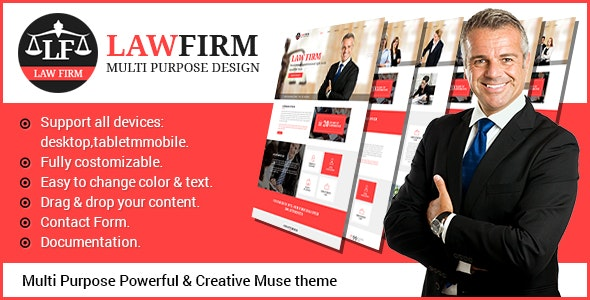LawFirm - Multipurpose Muse Theme - Corporate Muse Templates