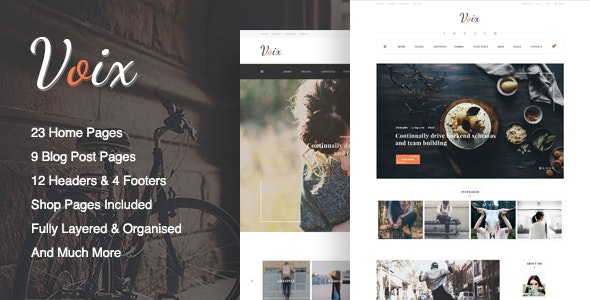 Voix - Blog PSD Template - Creative Photoshop