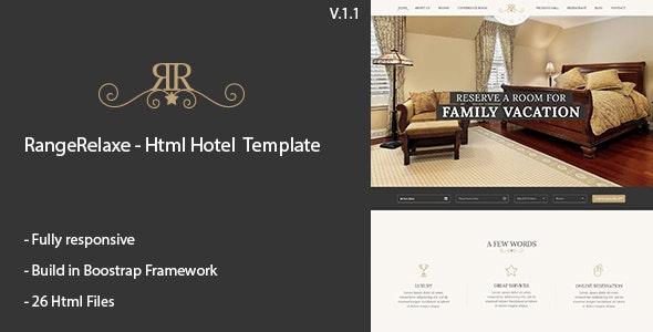 RangeRelaxe - Hotel & Resort HTML Template - Business Corporate