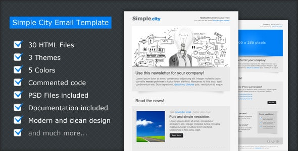 Simple City - Email Template - Newsletters Email Templates