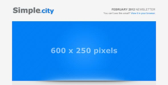 Simple City - Email Template