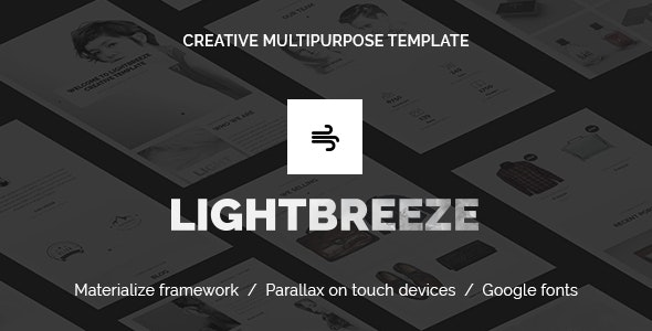 Lightbreeze - Creative Multipurpose HTML Template - Creative Site Templates