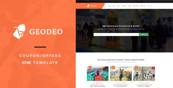 Geodeo - Coupon & Deals HTML Template - Shopping Retail