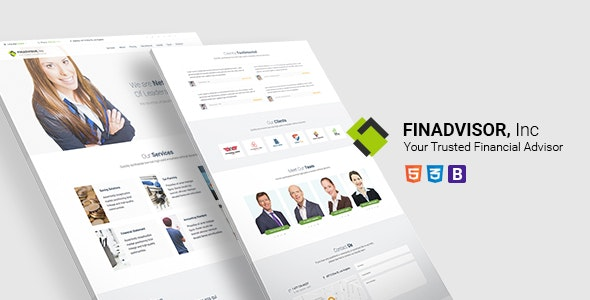Finadvisor - Responsive Bootstrap HTML5 Website Template - Business Corporate
