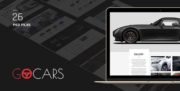 Go Cars - PSD Template Design for Car Dealers Market - Shopping Retail