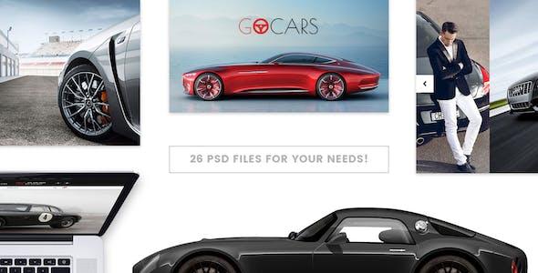 Go Cars - PSD Template Design for Car Dealers Market