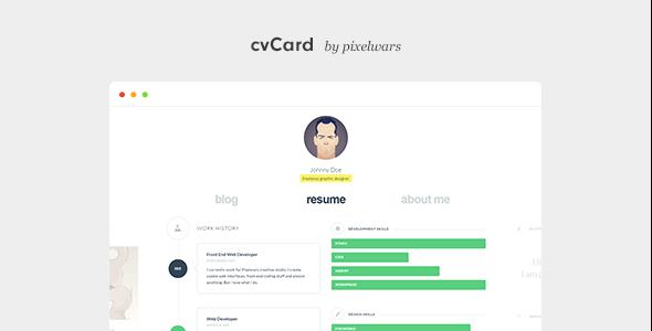 cvCard WP - Responsive vCard WordPress Theme - Portfolio Creative