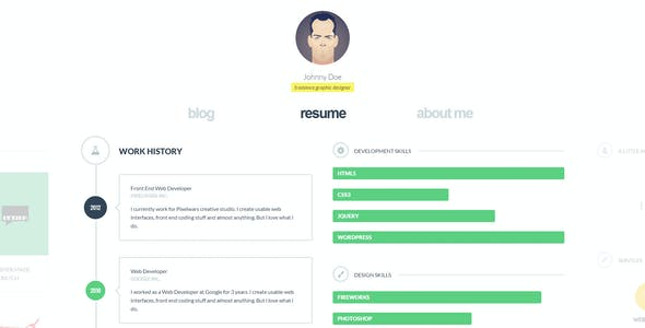 cvCard WP - Responsive WordPress Resume Theme