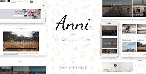 Anni – An Elegant & Effective WordPress Personal Theme - Personal Blog / Magazine