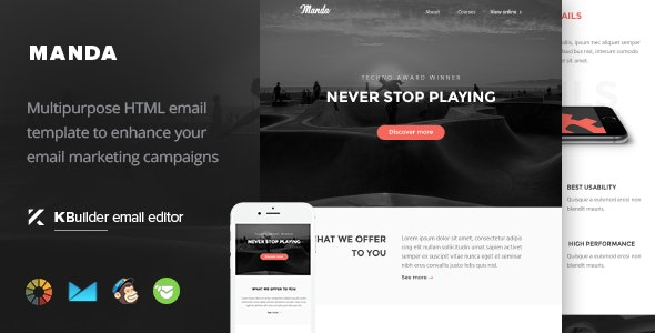 Manda- Multipurpose Email Template + Builder 1.0 - Email Templates Marketing