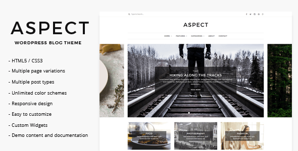 Aspect - WordPress Blog Theme - Personal Blog / Magazine