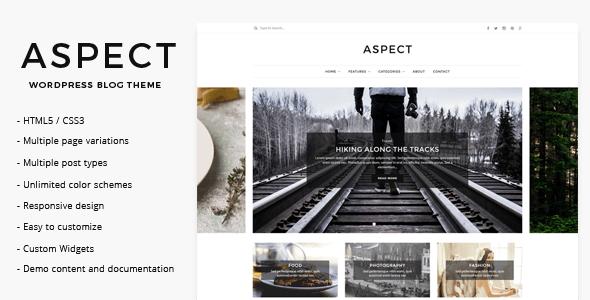 Aspect - WordPress Blog Theme