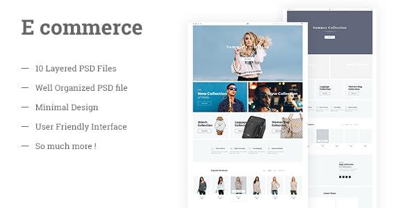 Multipurpose E commerce PSD Template - Shopping Retail