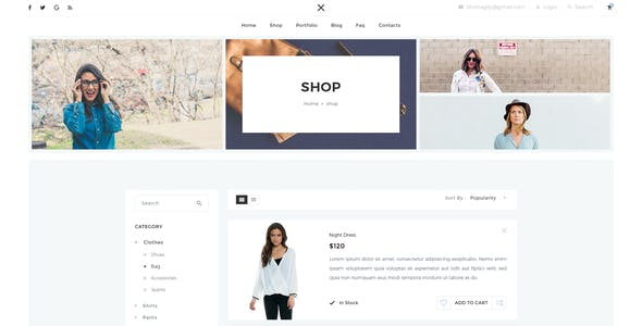 Multipurpose E commerce PSD Template