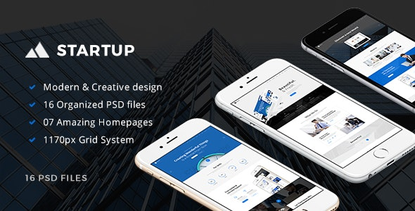 StartUp - Multipurpose Small Business PSD Template - Business Corporate