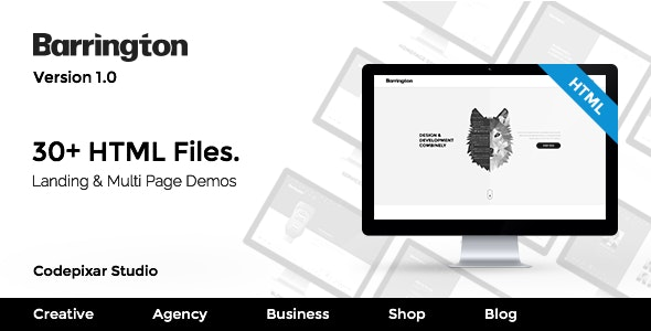 Barrington - Creative Agency HTML5 Template - Creative Site Templates