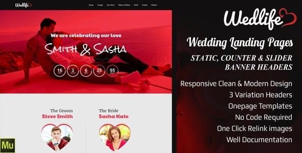 Download Wedding - Invitation Muse Templates