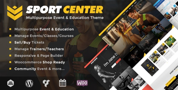 Sport Center - Multipurpose Events & Education WordPress Theme - Events Entertainment