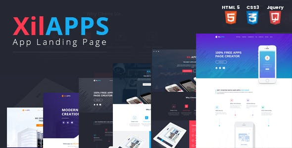 XILAPPS - HTML App Landing Page Template