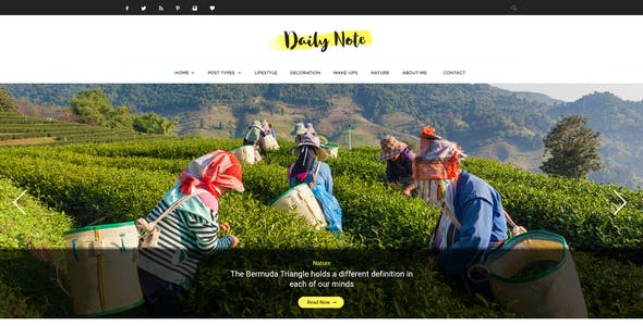 Daily Note - Creative Blog PSD Template