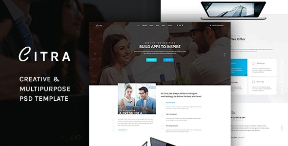 CITRA -  Business PSD Template - Corporate Photoshop
