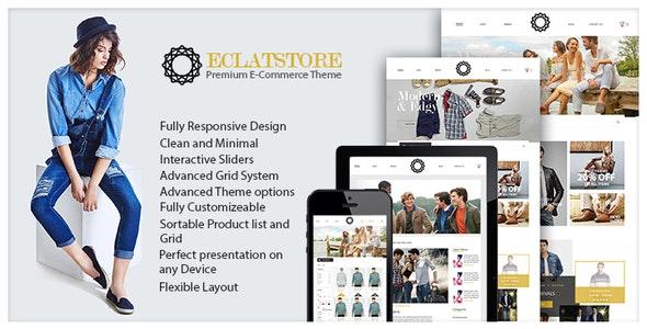 Eclatstore eCommerce shop template - Fashion Retail