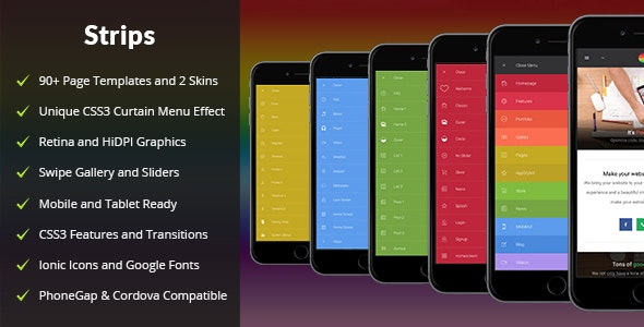 Strips Mobile - Mobile Site Templates