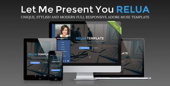 Relua - Personal Muse Template - Muse Templates