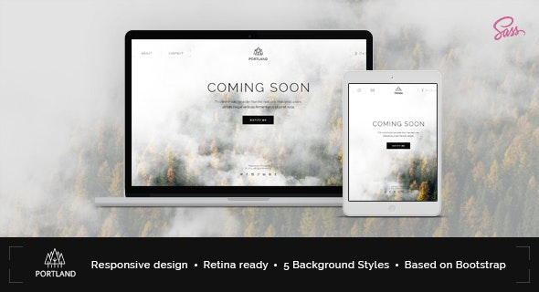 Portland — Creative Coming Soon & Maintenance Mode Template - Site Templates