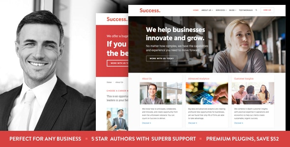 Success - Business and Professional Services WordPress Theme - Business Corporate