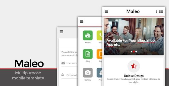 Maleo - Multipurpose Mobile Template - Mobile Site Templates