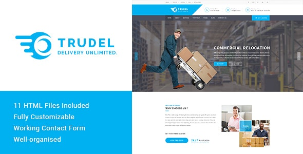 Trudel - Moving Business HTML Template - Business Corporate