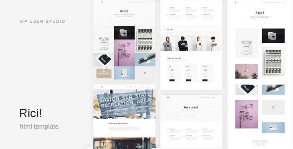 Rici - Creative Multipurpose HTML Template - Portfolio Creative