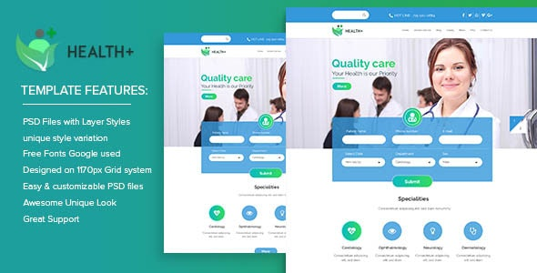 Health+ PSD Templates - Health & Beauty Retail