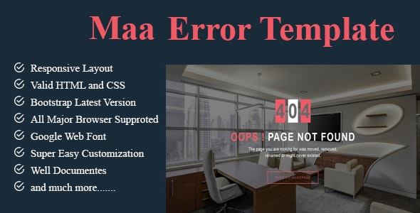 Maa Error Template - 404 Pages Specialty Pages