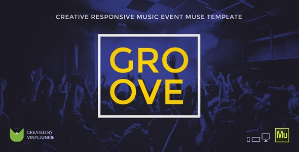 Groove - Music Event / Party / Festival Responsive Muse Template - Miscellaneous Muse Templates